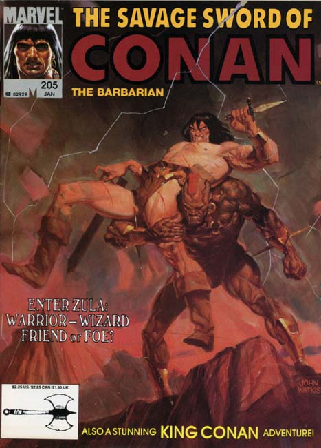 The Savage Sword of Conan Volume 1 Number 205