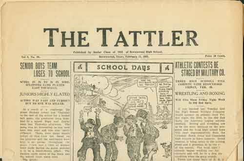 The Tattler Volume 3 Number 10