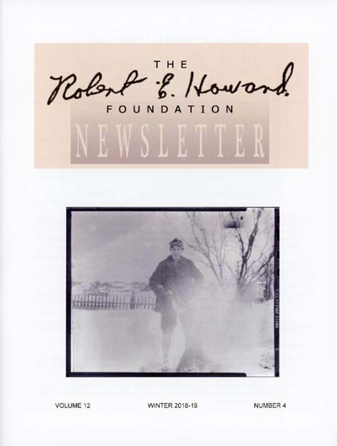 Robert E. Howard Foundation Newsletter Volume 12 Number 4