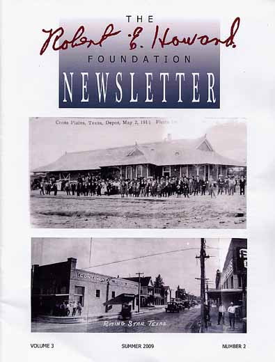 Robert E. Howard Foundation Newsletter Volume 3 Number 2