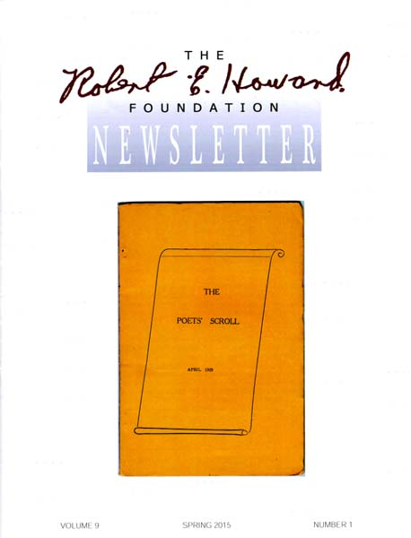 Robert E. Howard Foundation Newsletter Volume 9 Number 1
