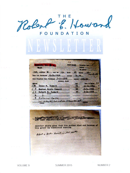 Robert E. Howard Foundation Newsletter V9N2