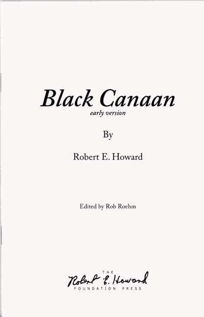 Black Canaan (early version)
