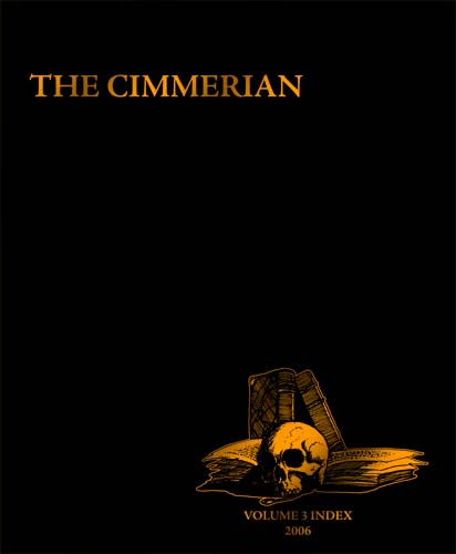 The Cimmerian Volume 3 Index